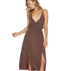 L*SPACE Tori Strappy Dress Chocolate Size XS